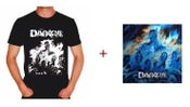 "Image of T-shirt ""Réminiscence"" Men Black and White + CD Digipack"