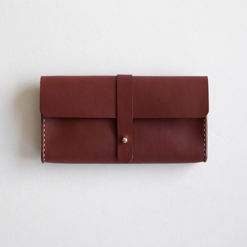 Image of Cognac Clutch Wallet