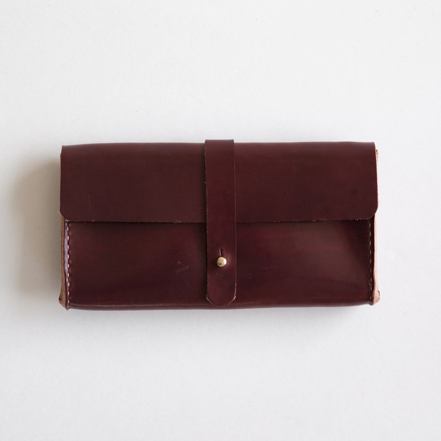 Image of Oxblood Clutch Wallet