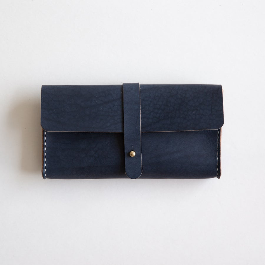 Image of Navy Clutch Wallet