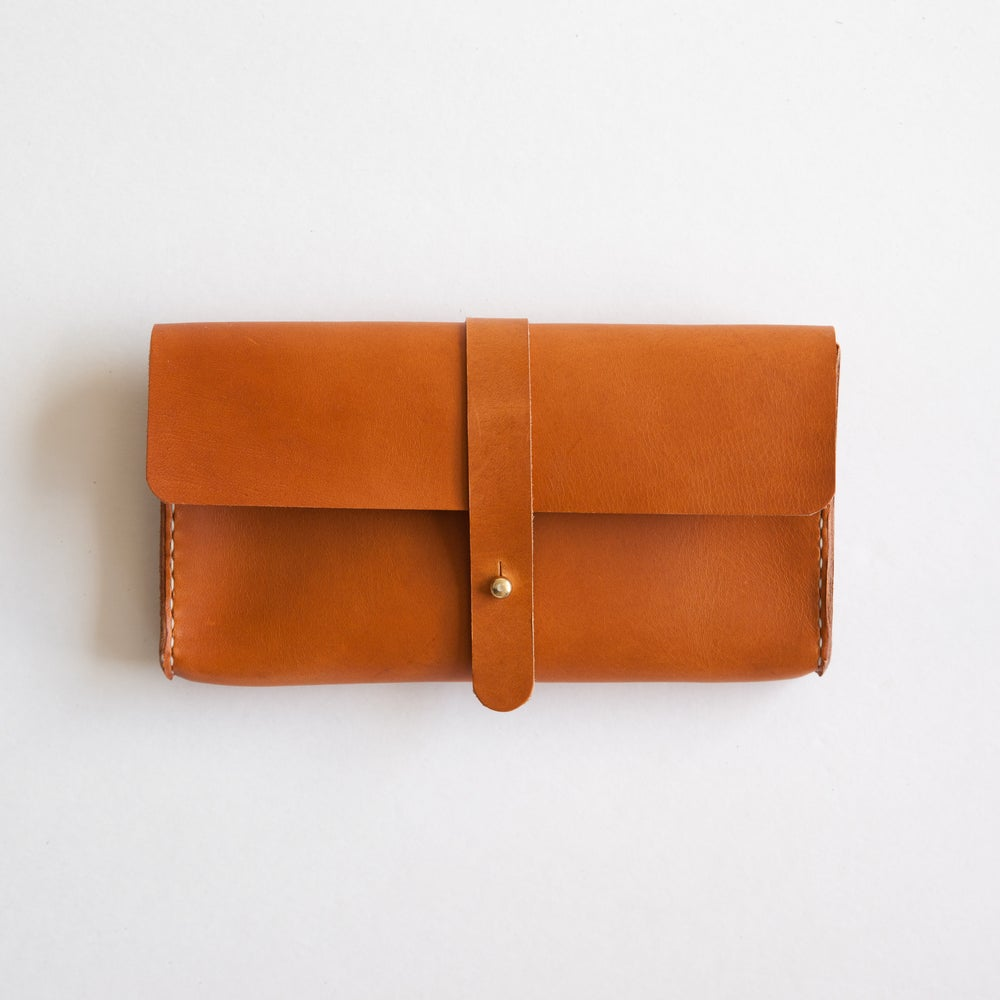 Image of Italian Tan Clutch Wallet