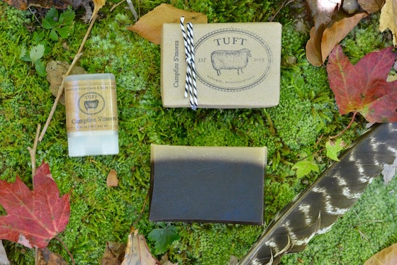 Image of Campfire S'mores - Luxury Bath Bar and Natural Lanolin Wool Wash