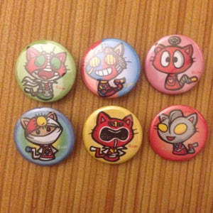 Image of Tokusatsu Kitty Buttons