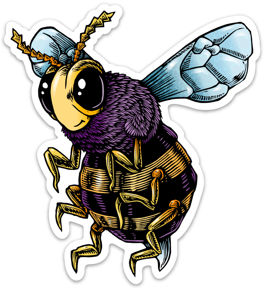 Image of Bee Vinyl Sticker