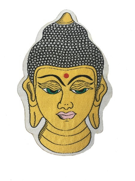 Image of **NEW** Golden Buddha Iron-on Patch