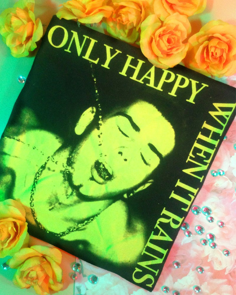 """Image of """"ONLY HAPPY WHEN IT RAINS"""" TEE"""
