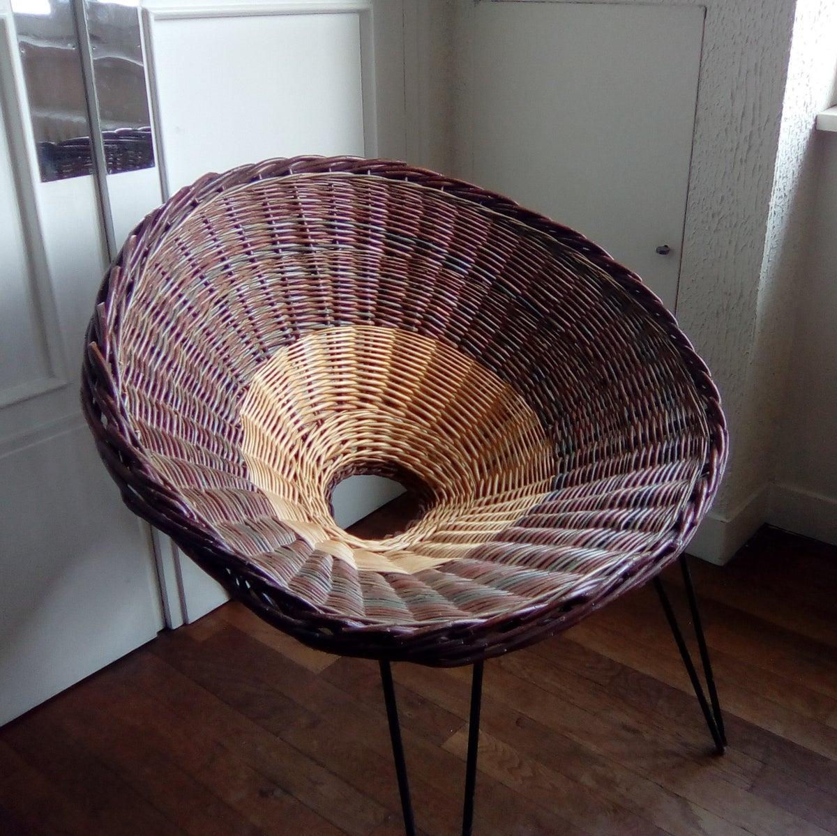 fauteuil osier cama eu design 50 fibresendeco vannerie artisanale mobilier vintage. Black Bedroom Furniture Sets. Home Design Ideas