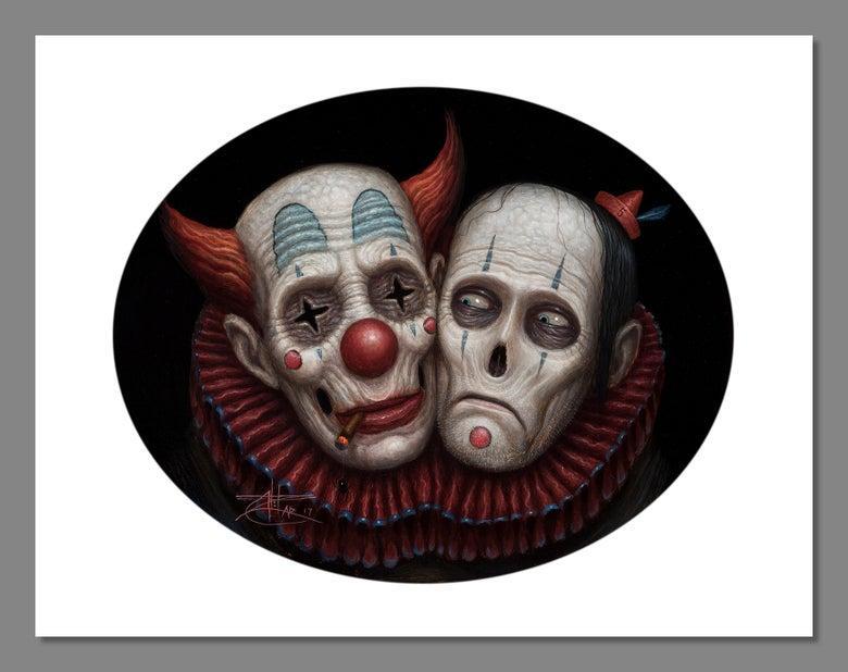 Image of Chet Zar 'Siamese Clowns' Giclée print