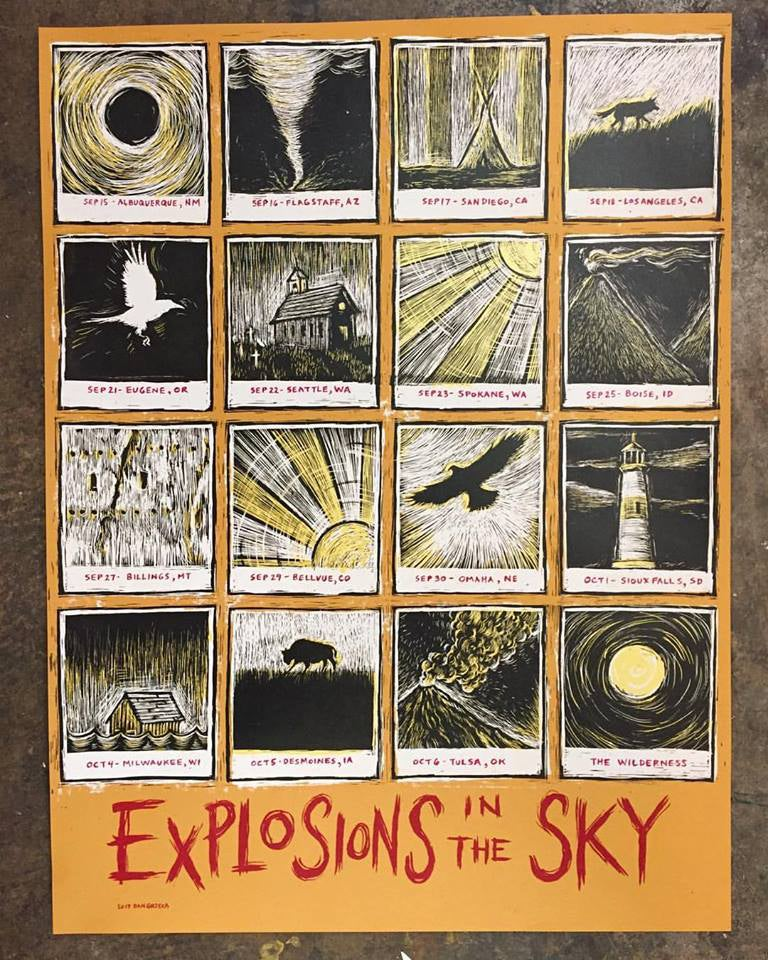 Image of Explosions in The Sky Wilderness Tour Poster