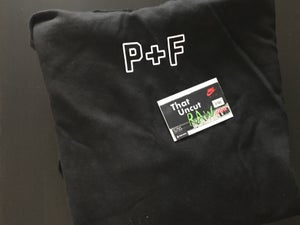 "Image of (SOLD OUT) places + faces ""p + f"" hoodie, black, brand new"