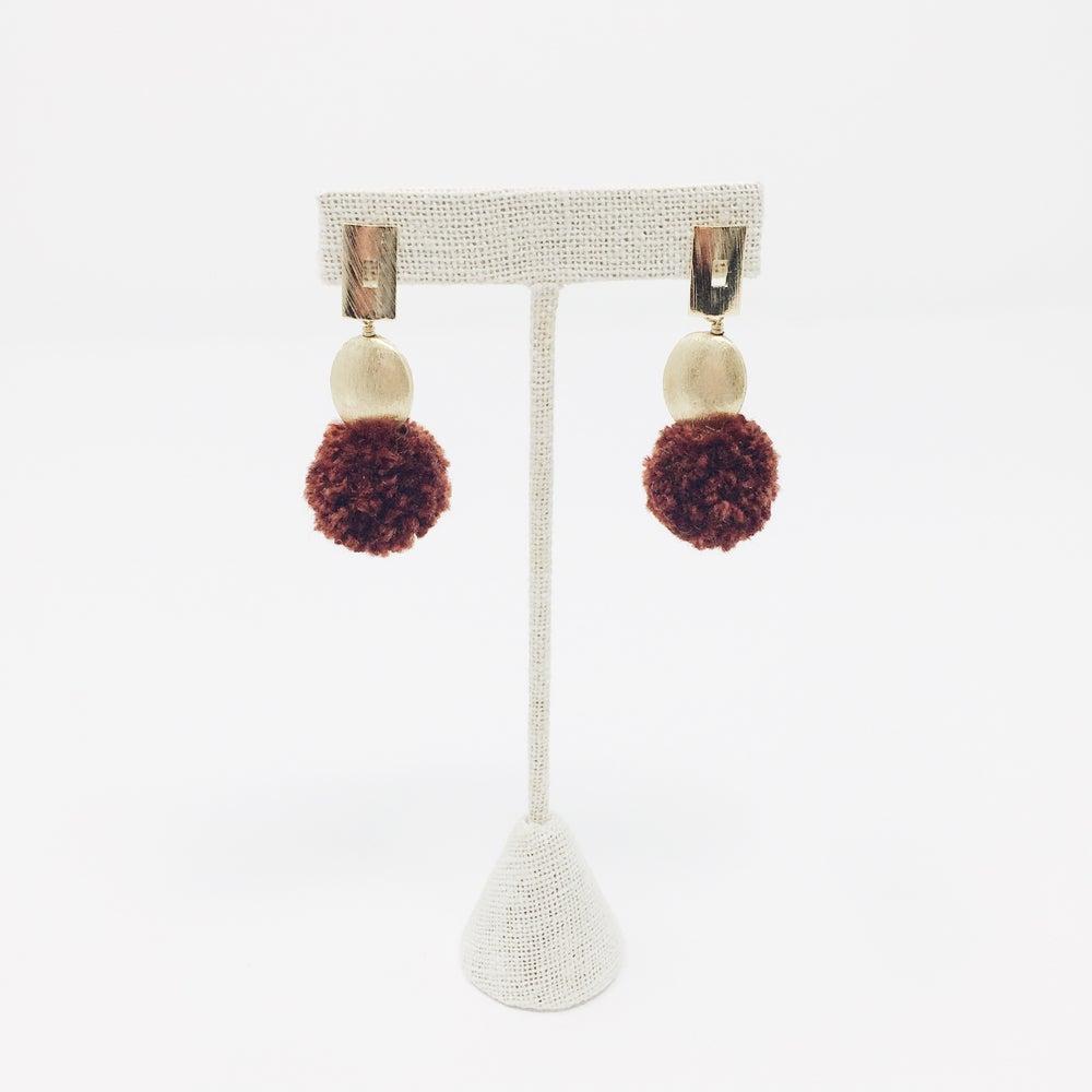 Image of Modern Pom Pom Earrings