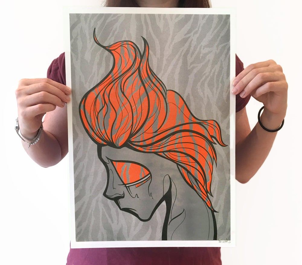 Image of Soda Head no.4 - Neon Orange