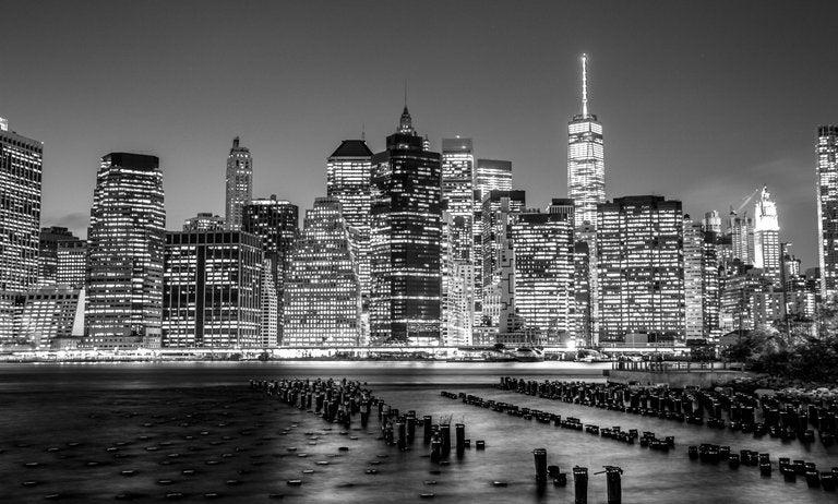 Image of NYC Skyline B+W