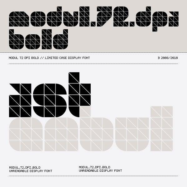 Image of Modul 72 dpi Bold