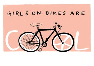 Image of Girls on Bike Are COOL