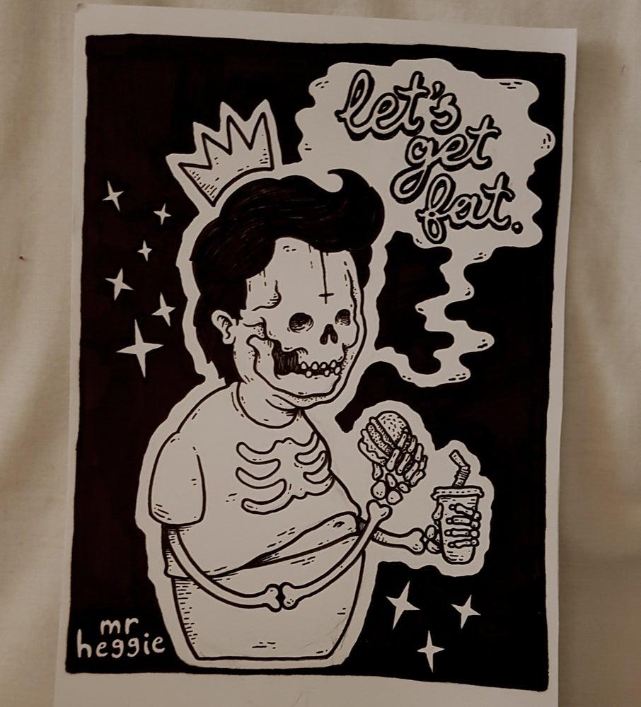 Image of the fat kid original drawing