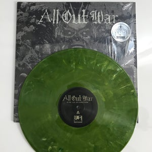 Image of ALL OUT WAR Give Us Extinction Green LP