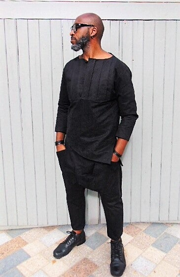 Image of T'Challa Wax Cotton Suit