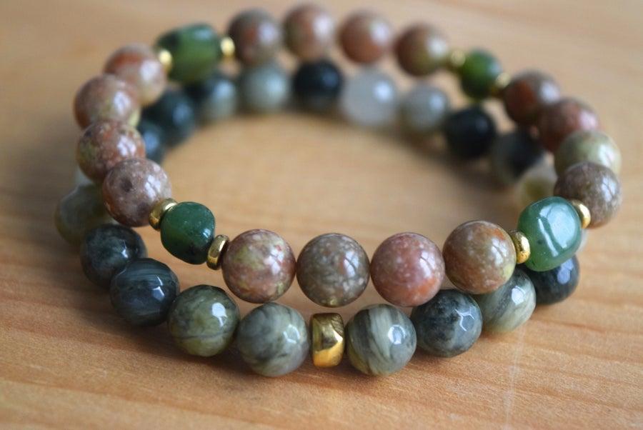 Image of The Green Jasper bracelet