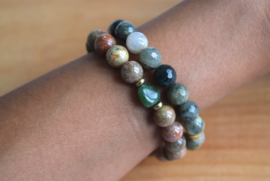 Image of The Jasper Jade bracelet