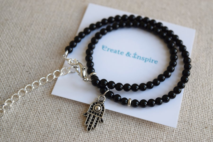 Image of The Silver Hamsa choker