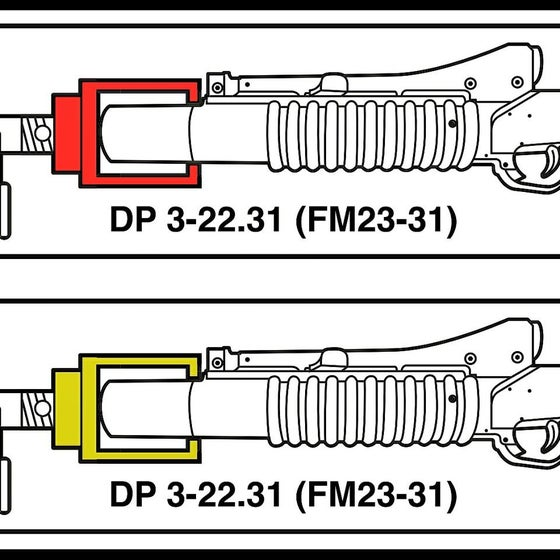 Image of M203 Blank Adapter Stickers