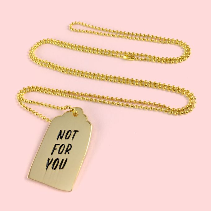 Image of Not For You necklace