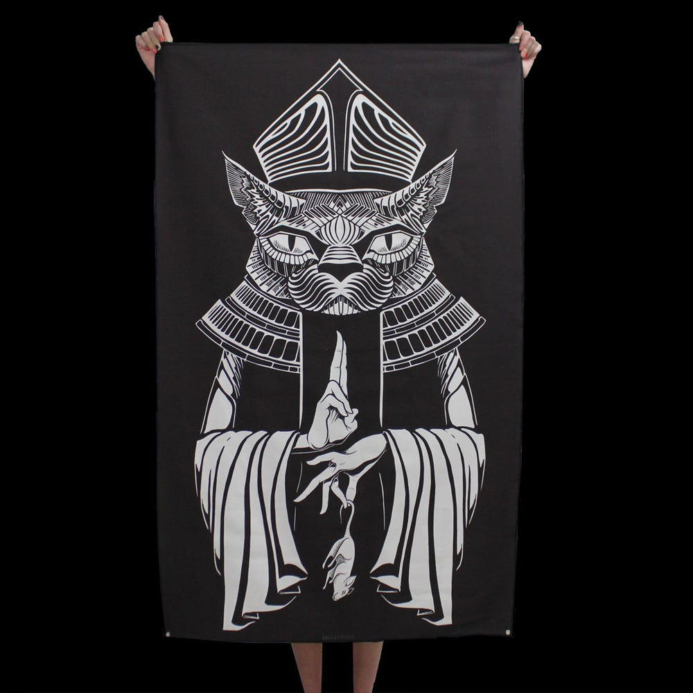 Image of POPE CAT TAPESTRY
