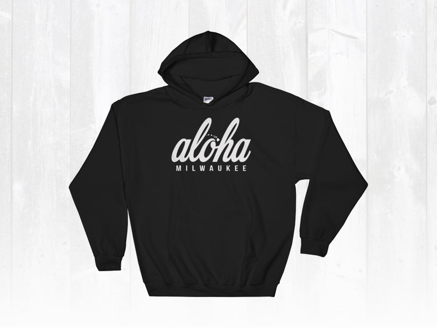 Image of Black Hoodie x Aloha Milwaukee