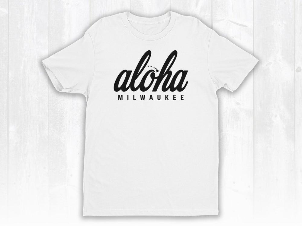 Image of White Tee x Aloha Milwaukee