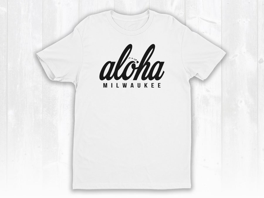Image of White Tee x Aloha Milwaukee