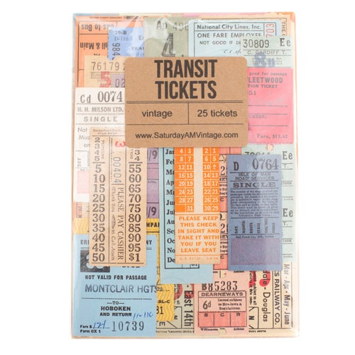 Image of Vintage Transit Tickets - Set of 25