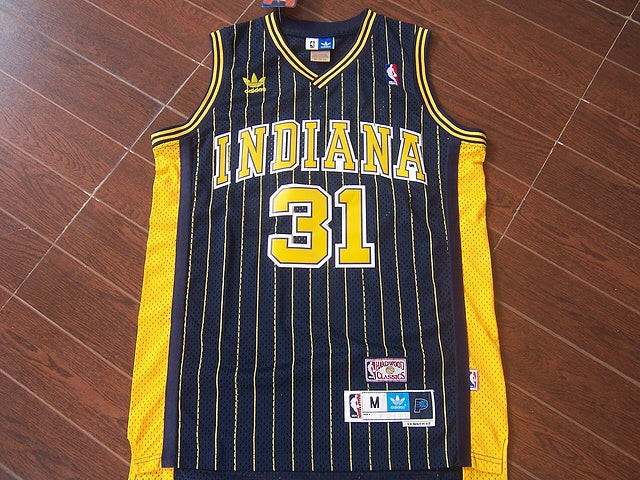 Image of NBA Indiana Pacers Reggie Miller Throwback/Stiched Jersey NWT