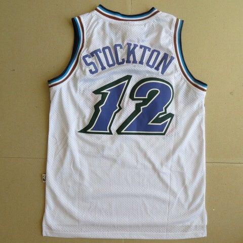 Image of NBA Utah Jazz John Stockton #12 Vintage Hardwood Classic Sewn Jersey NWT