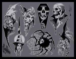 Image of ALL HALLOWS FLASH SHEET 2017 PRE-ORDER