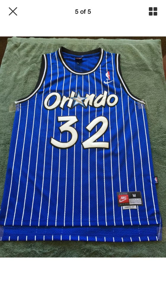 Image of NBA Orlando Magic Shaquille O'Neal #32 Throwback Classic Sewn/Stitched Jersey NWT
