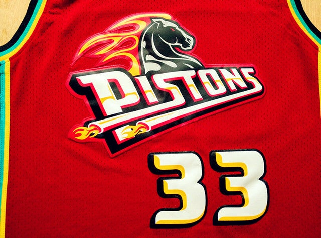 Image of NBA Detroit Pistons Grant Hill #33 Swi ngman Swen/Stitched Jersey NWT