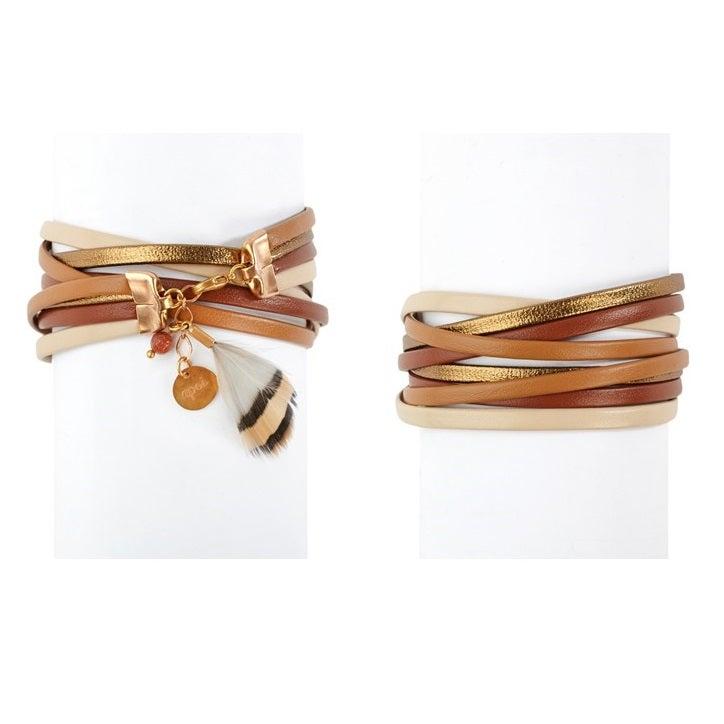 Image of Quatre liens - Bracelet marron