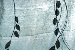 Image of A PAIR OF HAND EMBROIDERED SILK DOOR/WINDOW PANELS