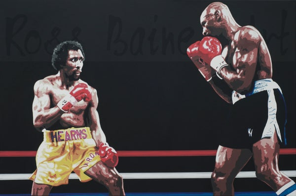Image of 'FIGHT OF THE CENTURY' (3x2ft canvas print)