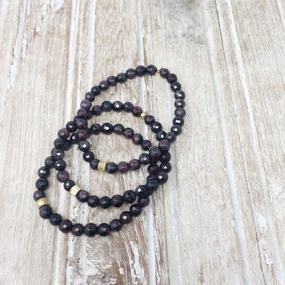 Image of Garnet Bracelet Set