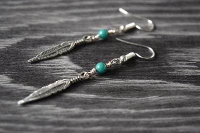 Image of The Silver Feather Earrings