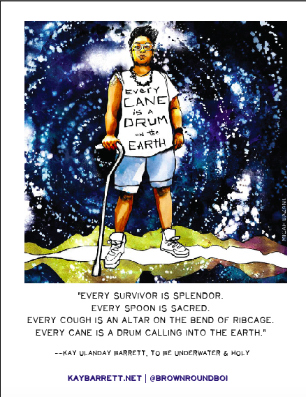 Image of Drum Cane Earth (Poster)