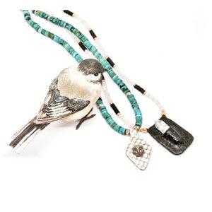 Image of AMULET necklace black/white