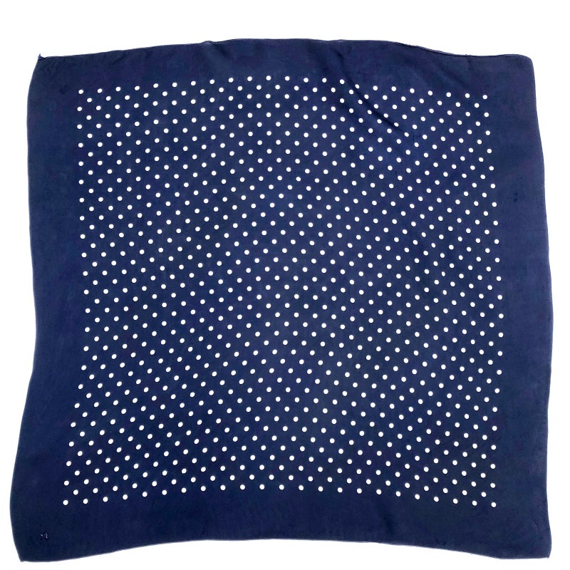 Image of 60's Polka Dots Silk scarf