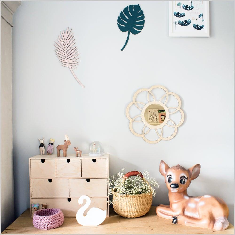 Image of Birch Plywood Flower Mirror