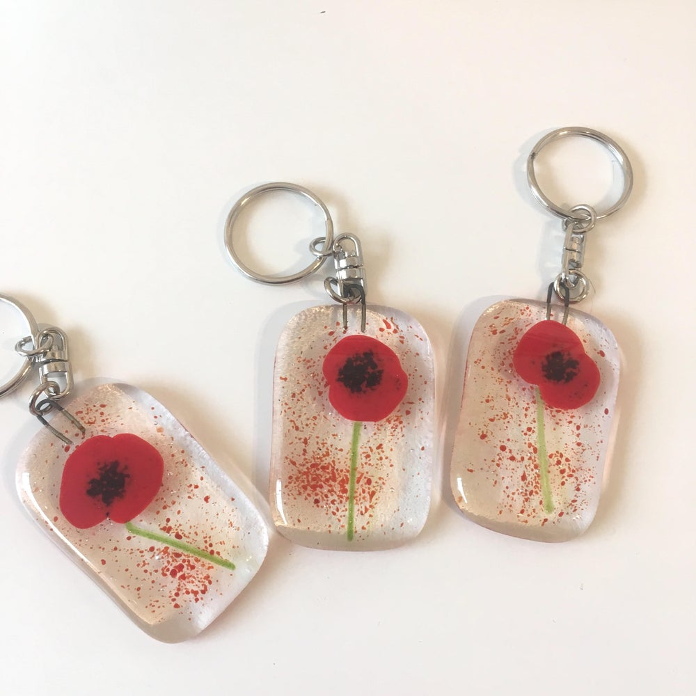 Image of Poppy Key ring