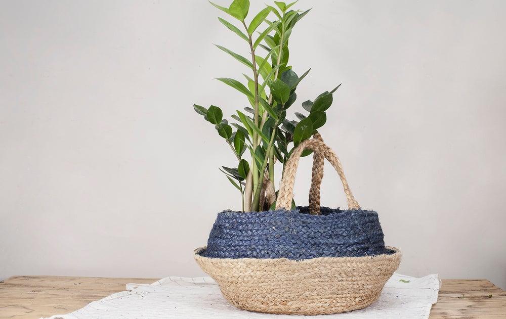Image of Cesta Natural/Azul