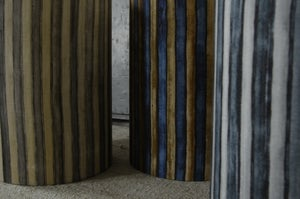Image of LINEN STRIPE DRUM LAMPSHADES