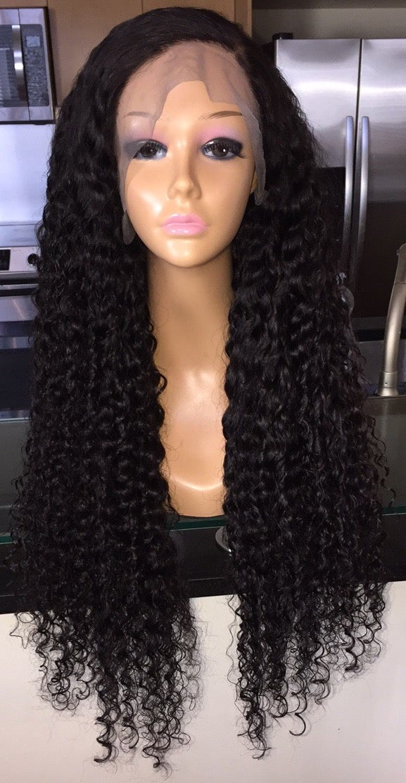 """Image of Indian Wavy/Curly 28"""" Custom Lace Frontal Wig - Super Full!"""